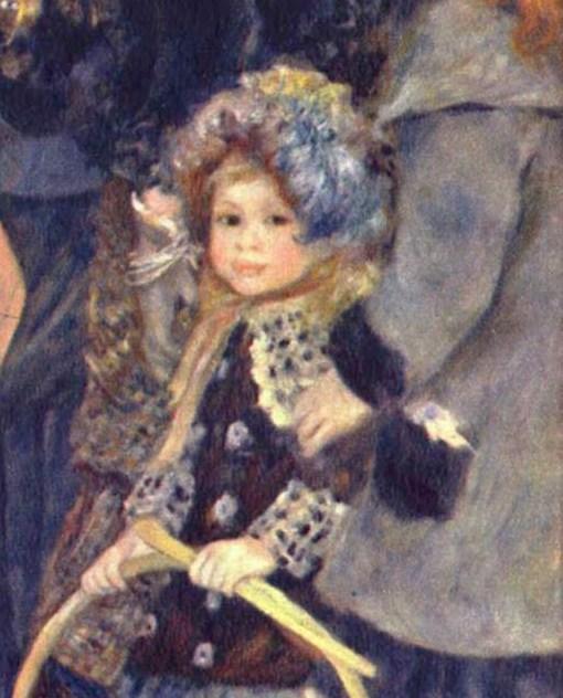 Renoir- Les Parapluies, detail