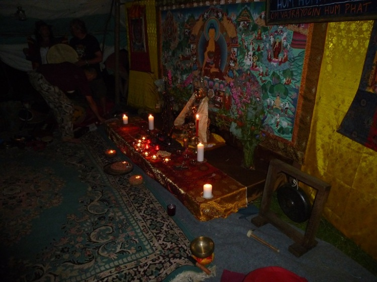 Meditation space after the Puja