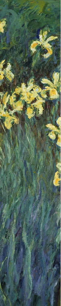 Claude Monet- Yellow Irises detail 1