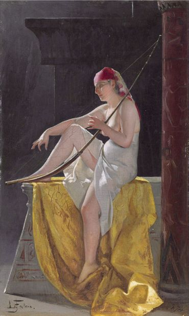 461px-Egyptian_Woman_With_Harp,_by_Luis_Ricardo_Falero