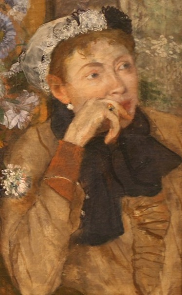 A woman seated, detail