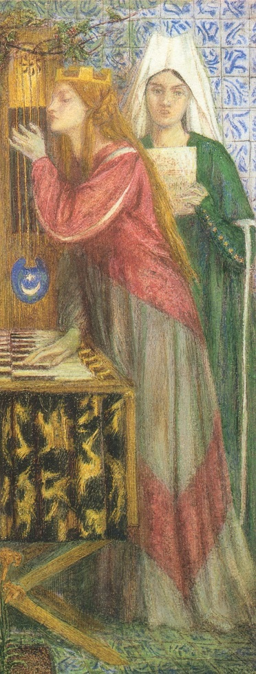 Dante_Gabriel_Rossetti_The_Blue_Closet_1857 (r)