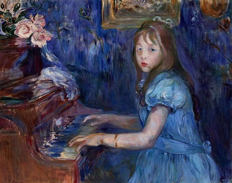 lucie-leon-at-the-piano-1892 Berthe Morisot