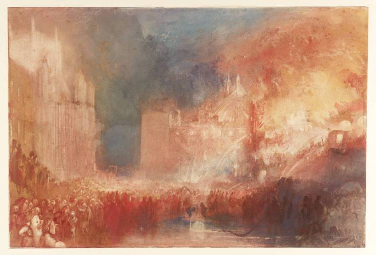 The Burning of the Houses of Parliament ?1834-5 by Joseph Mallord William Turner 1775-1851