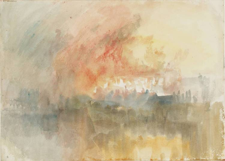 The Burning of the Houses of Parliament 1834 by Joseph Mallord William Turner 1775-1851