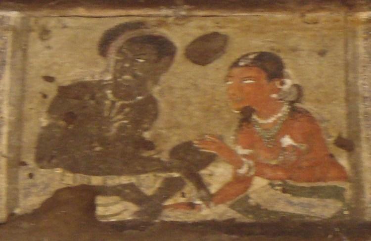Ajanta_Caves,_Painting_3