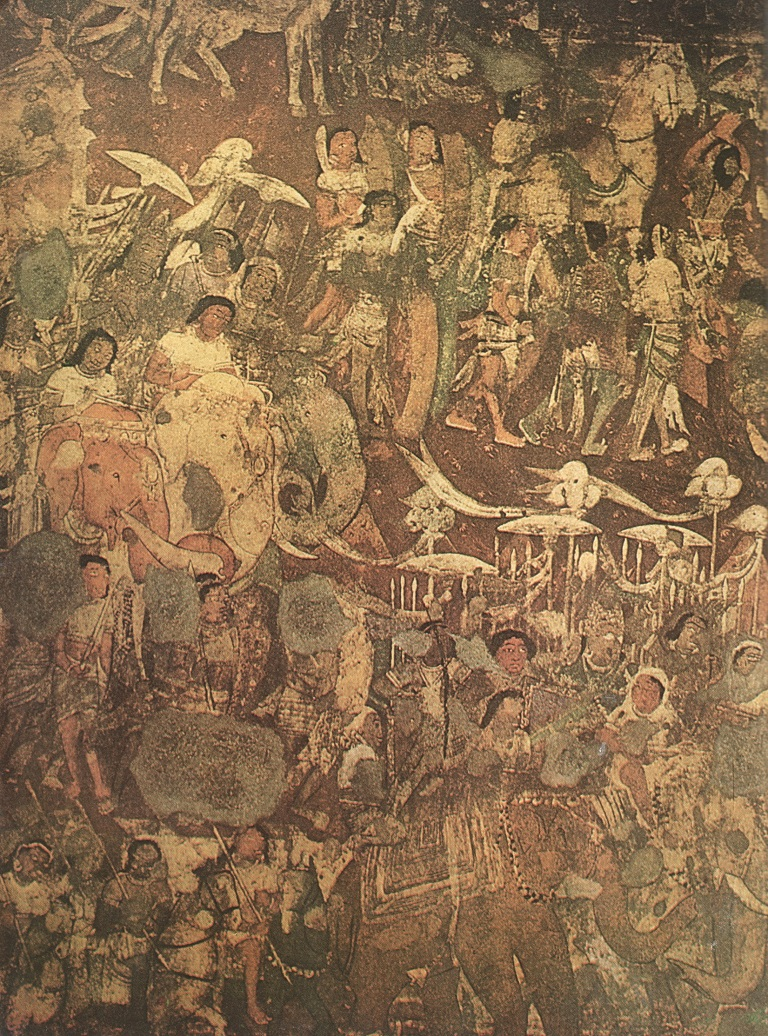 Coming_Of_Sinhala_(Mural_At_Ajanta_In_Cave_No_17)
