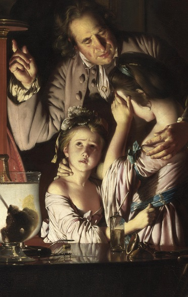 Joseph Wright of Derby- an experiment on a bird in an air pump 1
