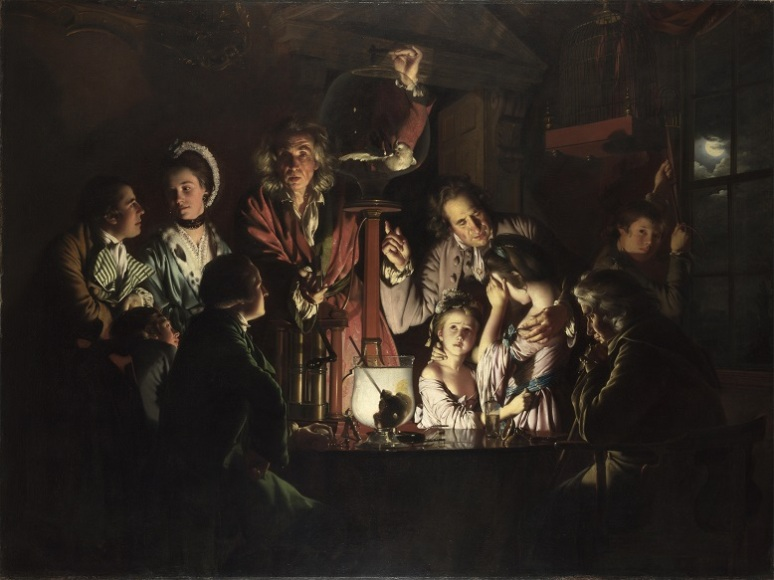 Joseph Wright of Derby- an experiment on a bird in an air pump