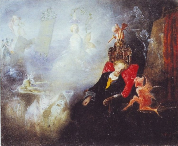 John Anster Fitzgerald, the artist's dream