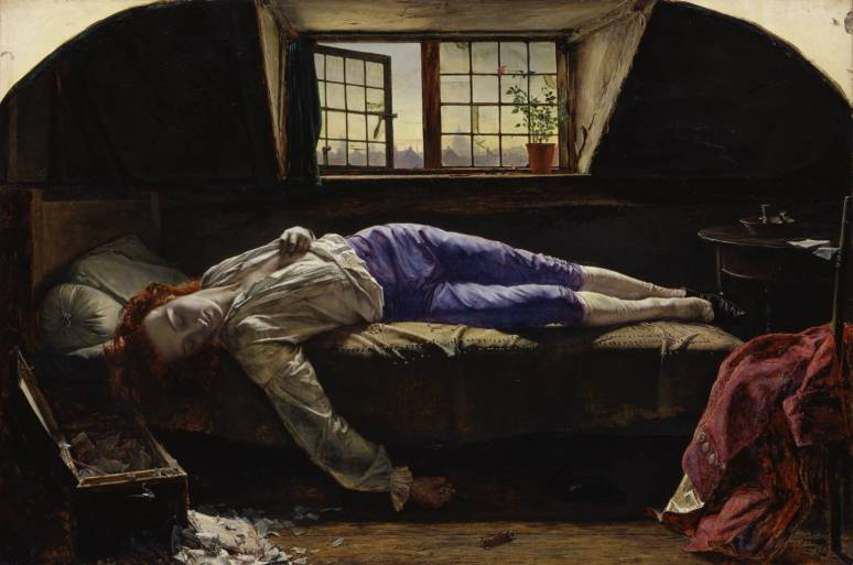 Chatterton 1856 by Henry Wallis 1830-1916