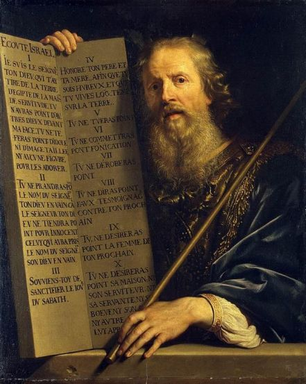 Philippe de Champaigne: Moses with the Ten Commandments