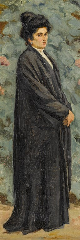 Sigismund Righini, Portrait of an elegant lady in the garden