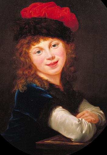 Élisabeth-Louise Vigée LeBrun- Portrait of a Girl