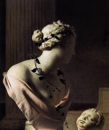 Cesar Boetius van Everdingen Trompe l'oeil with a bust of Venus