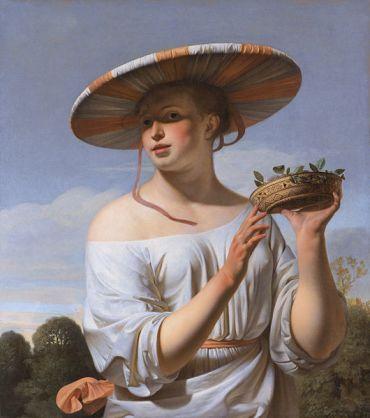 Everdingen- girl in a large hat