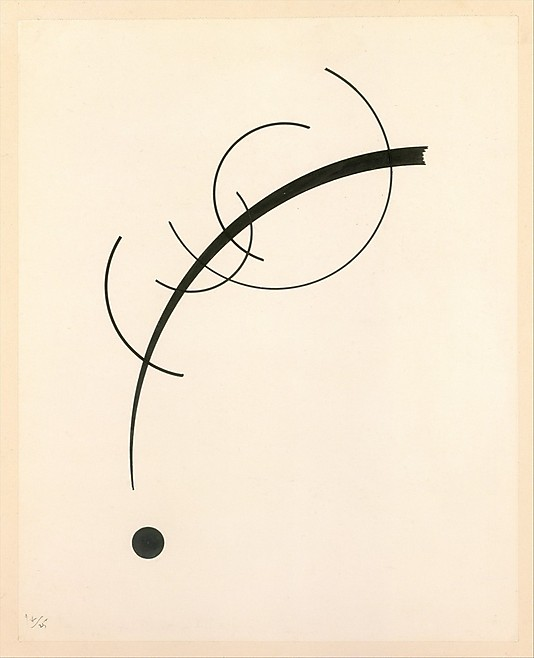 Kandinsky- Free curve to the point- accompanying sound of geometric curves