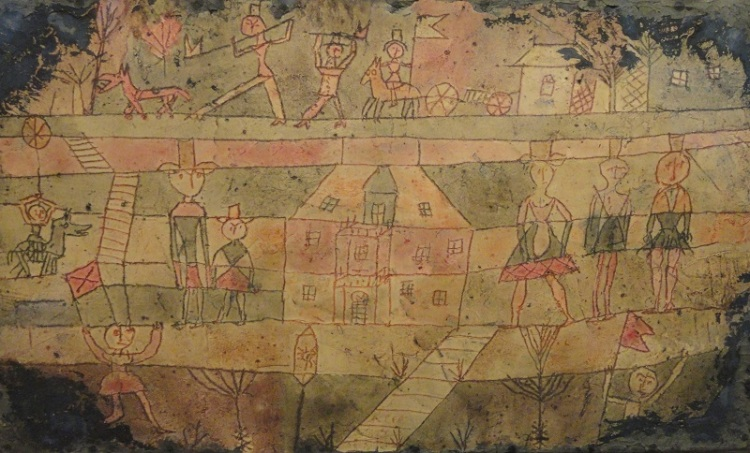 Klee, arrival of the Jugglers