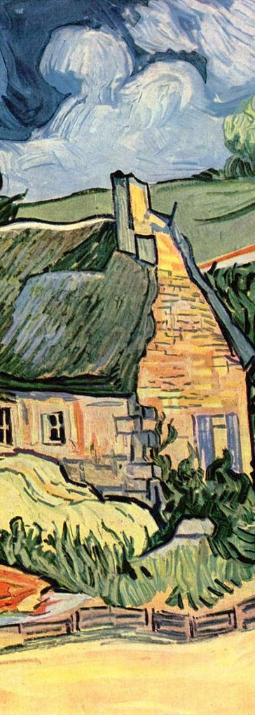 van Gogh, thatched cottages at Cordeville