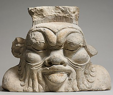 Column capital of the God Bes, Ptolemaic period