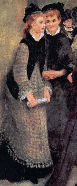 La sortie du Conservatoire, Renoir, in part