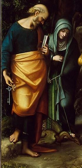 Saints Peter, Martha, Mary Magdalen, and Leonard- Correggio 1