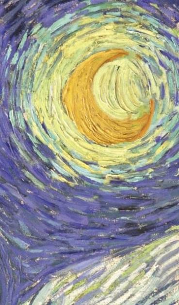 starry night moon