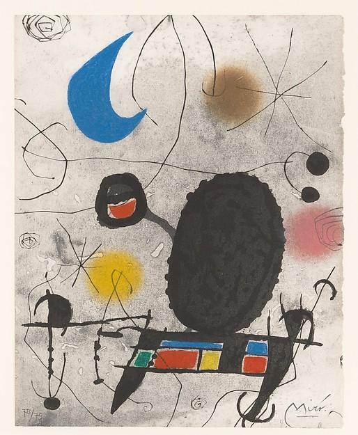L'Oiseau solaire l'oiseau lunaire, lithograph and aquatint