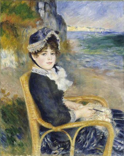 Renoir- femme assise au bord de la mer