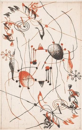 Serie noire et rouge, etching