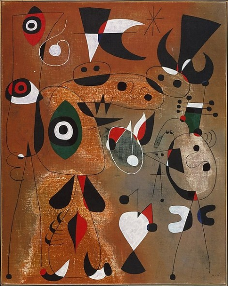 Women, birds and a star, 1949, oil on canvas