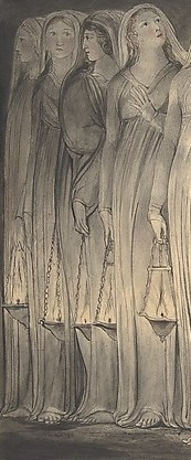 Blake, the wise and foolish virgins, wise