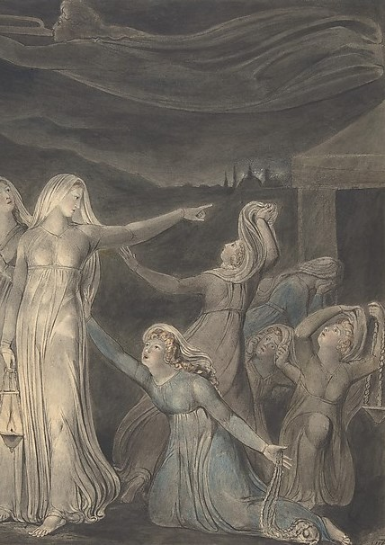 Blake, the wise and foolish virgins