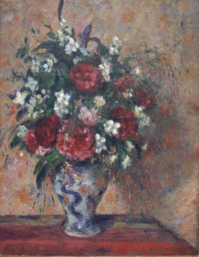 Pissarro, still life with peonies