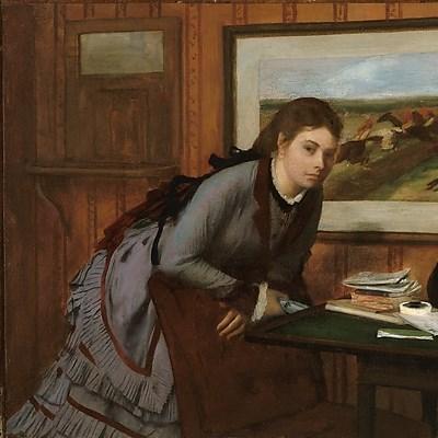 Sulking, Edgar Degas