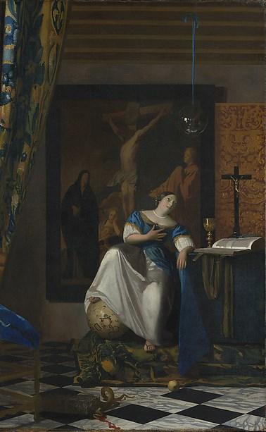 Vermeer, allegory of the Catholic Faith