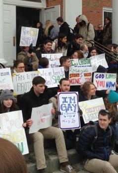 Wheaton students protest
