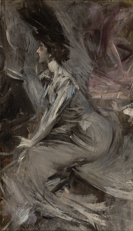 Boldini- Seated Lady (The Conversation)