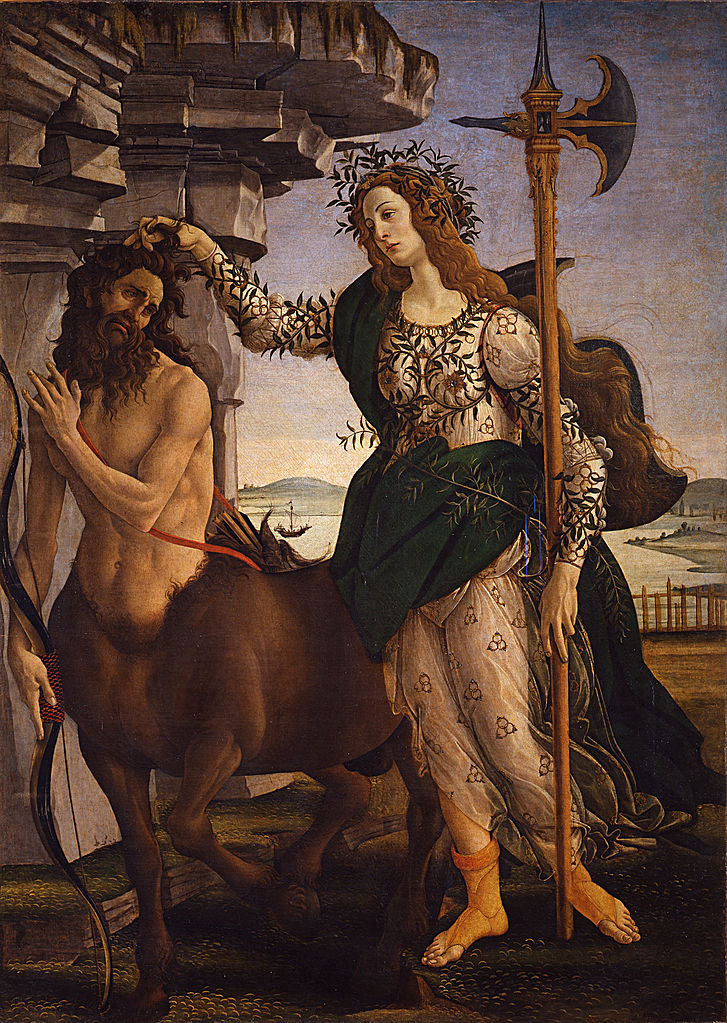 Botticelli- Pallade and the Centaur