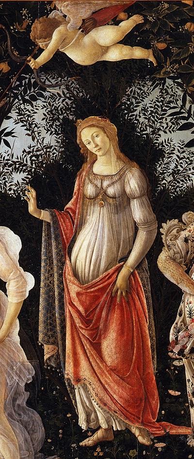 Botticelli-primavera- Venus and Cupid