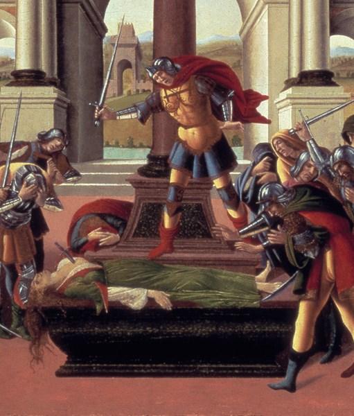 Botticelli- the suicide of Lucretia, detail