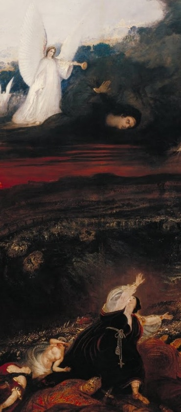 John Martin, The Last Judgment detail- Gabriel and the Whore