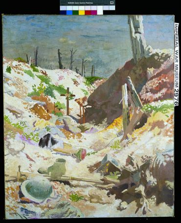 William Orpen, a grave in a trench
