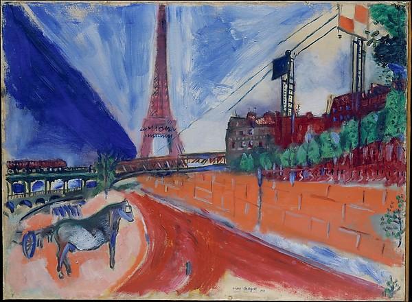 Chagall, le pond de Passy et le Tour Eiffel