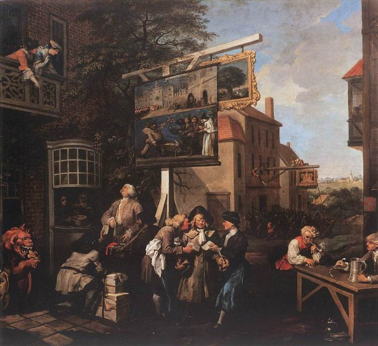 Hogarth, Soliciting votes