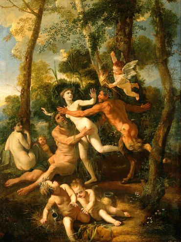 Poussin, Pan and Syrinx