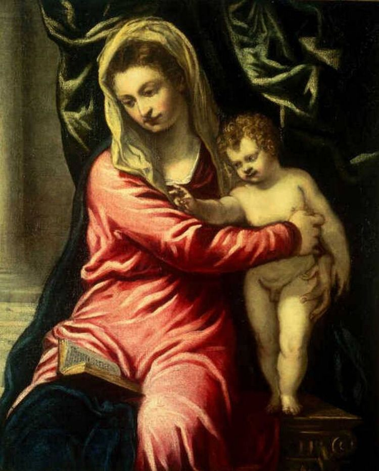 Tintoretto Mary and Child