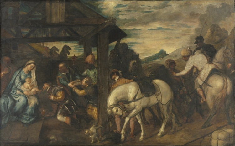 Titian, the adoration of the Magi
