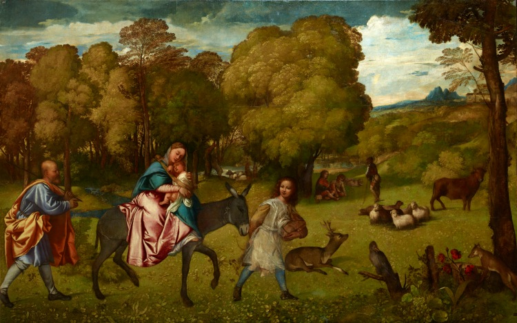 The Flight into Egypt, about 1506-7