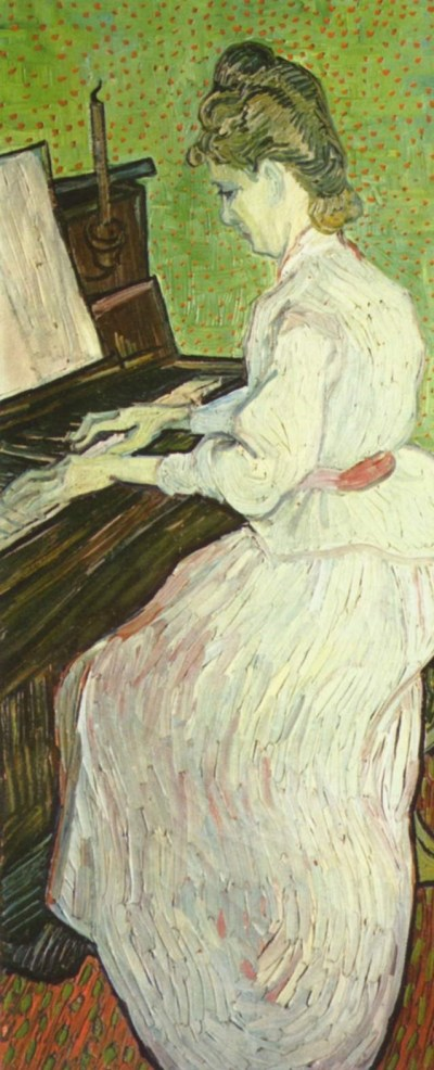 van Gogh, Marguerite Gachet at the piano